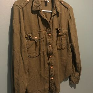 Army Green Forever 21 button down